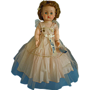 """Vintage Natural Doll Co. 20"""" Hard Plastic Walker All Original Clothes w/ Tags"""
