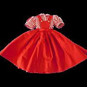 Nice! 1950's Vintage Alexander Cissy Dress Clothes Tag Red Dress & Stripe Blouse