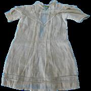 Antique Off White Cotton Dress for (M) Antique or Vintage Doll