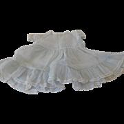 Vintage Light Blue Organdy Lace Trimmed Dress for a (L) Large Doll