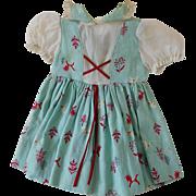 "Vintage Blue, Red, White Dress for 22""-24"" Hard Plastic Vinyl Doll Saucy etc."