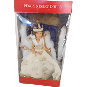 "Vintage Peggy Nisbet 8"" Royalty Queen Elizabeth II Coronation In State Robes MIB"