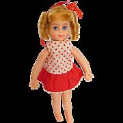 "Vintage 1960's Mattel 6"" Buffy of Family Affair w/ Original Dress & Bows"