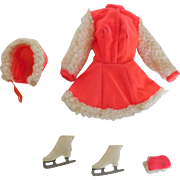 Vintage 1970 Barbie Skate Mates Tagged Outfit Ice Skating