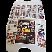 Vintage 1977 Original Star Trek Stamps & Stamp Album Complete, Kirk, Spock