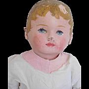 """Early 16"""" Martha Chase Cloth Oil Cloth Hospital Boy Baby Doll"""