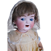 "Antique 18"" Heubach Kopplesdorf 342 German Bisque Baby w/ Flirty Eyes"
