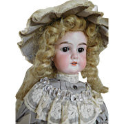 "Antique Armand Marseille 19"" Floradora Bisque Socket Head Great Costume"