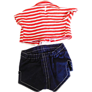 Vintage 1960's Mattel Tagged Chatty Cathy Playtime 2 Piece Shorts Set