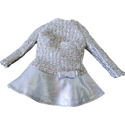 Vintage 1969 Tagged Barbie Dress Silver Sparkle #1885