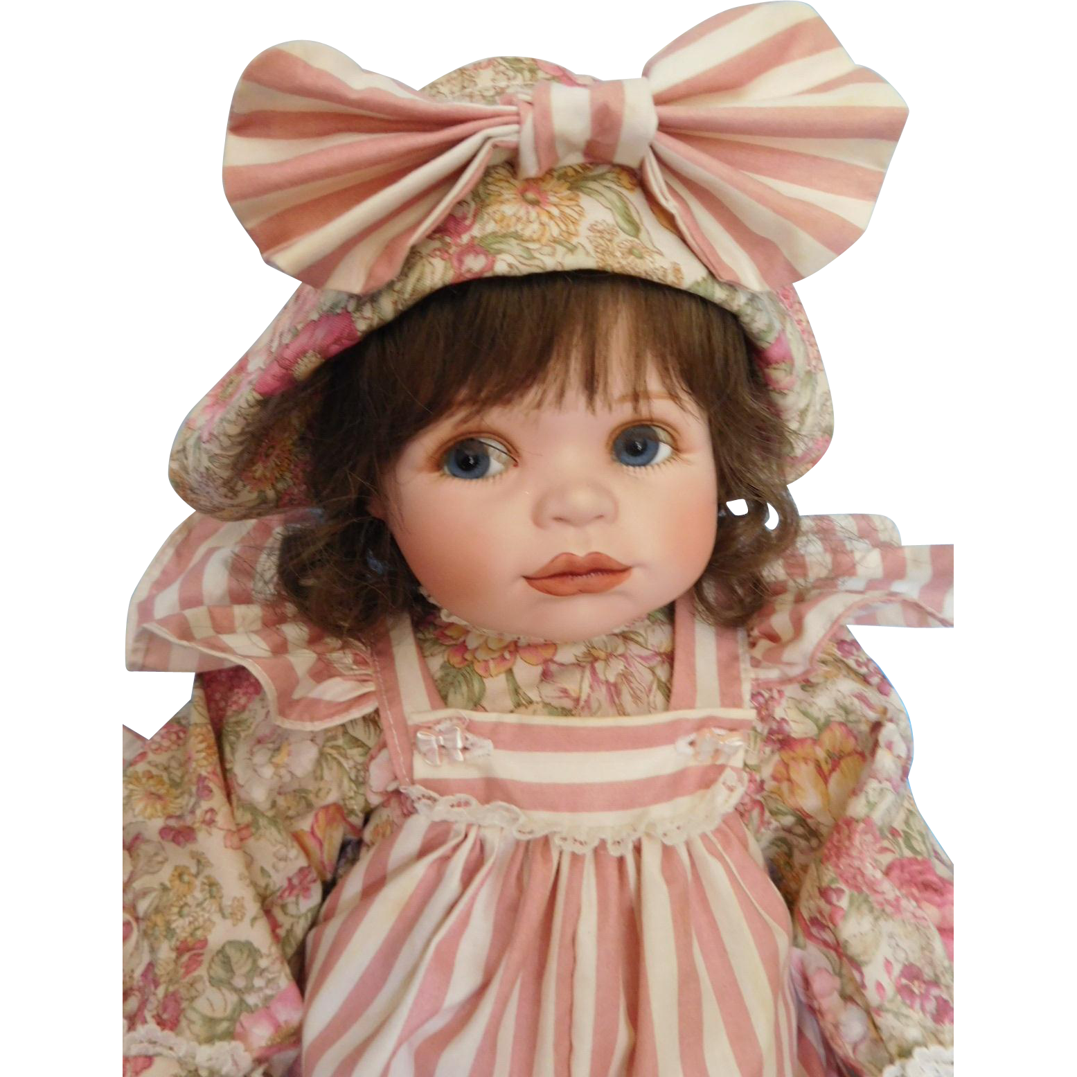 "Precious! Ellenbrooke 20"" Porcelain Girl by Connie W. Derek"