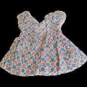 Vintage Pink, Blue, Green Dot Dress for Medium Size Doll