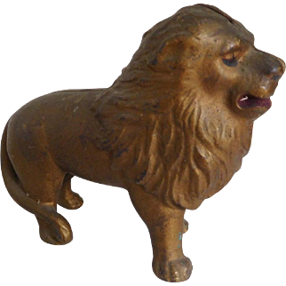 "Vintage 5"" A.C.Williams Cast Iron LIon Still Bank Circa 1920"