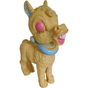 "Vintage 7"" Blue Ribbon Donkey Mule Squeeze Toy 1958"