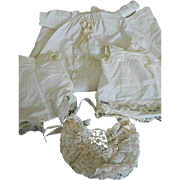"Vintage 4 Piece Christening Outfit for a 12""-14"" Antique or Vintage Baby Doll"