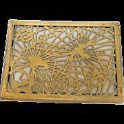 Tiffany Studios Lid Top of Trinket or Stamp Box Pine Needle Pattern
