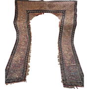 Antique Ottoman Islamic Door Surround Portiere Gold Metallic Calligraphy Embroidery