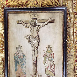 Antique Charles II Devotional Needlework Religious Silk Embroidery Dated 1665