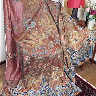 Antique Chinese Daoist Priest Ceremonial Dragon Robe