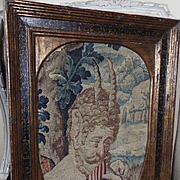 Late 16th Early 17th French Renaissance Figural Aubusson Tapestry Weave