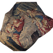 17th Century French Aubusson Tapestry Figural Panel