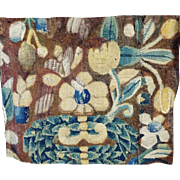 17th Century French Aubusson Verdure Tapestry Fragment for Pillow Projects