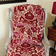 18th Century Italian Cut Silk Velvet Panel Florence