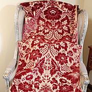 Italain Cut Velvet Italian Fabric Flowers Florence Antique