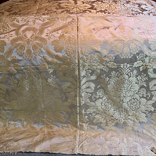 Antique French Lyon Silk Damask Panel Retialers MORANT & CO.  Bond Street