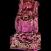 Antique French Empire Chataeu Portiere Curtain Silk Velvet