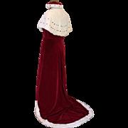 Coronation Robe Coronet Headdress Couture Silk Velvet Designer Victor Stiebel