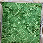 Antique French Silk Brocatelle Panel Neo Gothic fleur de lys