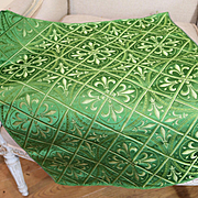 19th Century French Woven Silk Brocatelle Gothic Decor fleur de lys Documented Piece