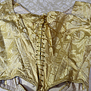 18th Century English Silk Gown Dress Deconstructed for Re Working Projects