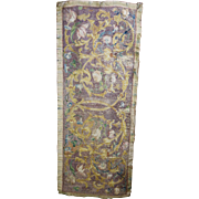 Italian Embroidered Silk Religious Altar Frontal Coral Beadwork Late 17th early 18th Century Textile