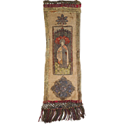 16th Century Religious Embroidery Orphrey Panel Metallic Stumpwork Silk Saint