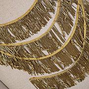 Antique French Caterpillar Tassel Trim Gold Metallic Passementerie