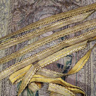 Antique French Trimming Gold Metallic Passementerie