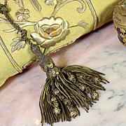 18th Century French Gold Metallic Tassel Tie Back