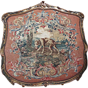 18th Century French Louis XV Beauvais Aubusson Tapestry DOG