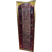 15th Century Chasuble Back Italian Velvet Metallic Embroidered Orphrey Panel