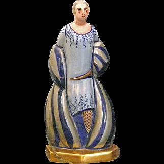 Art Deco Limoges Perfume Lamp Male Figure