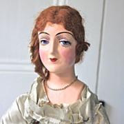 1920'S  Art Deco Restored Flapper Boudoir Doll with Glass Eyes!