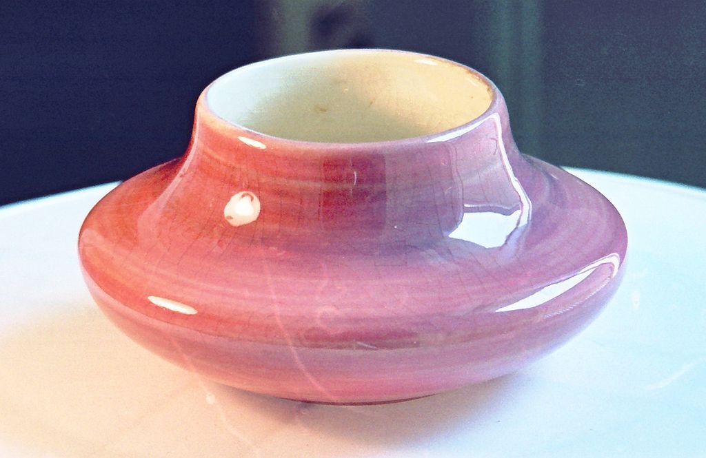 """Haldeman """"Caliente"""" California Pottery Cabinet Vase 1930's Deco"""