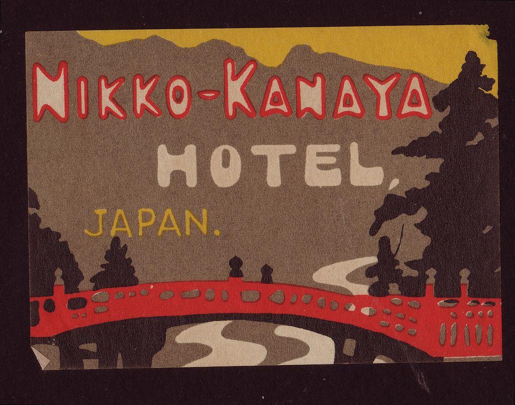 1927 Luggage Label Nikko-Kanaya Hotel, Japan from decosurfn-rl on Ruby Lane