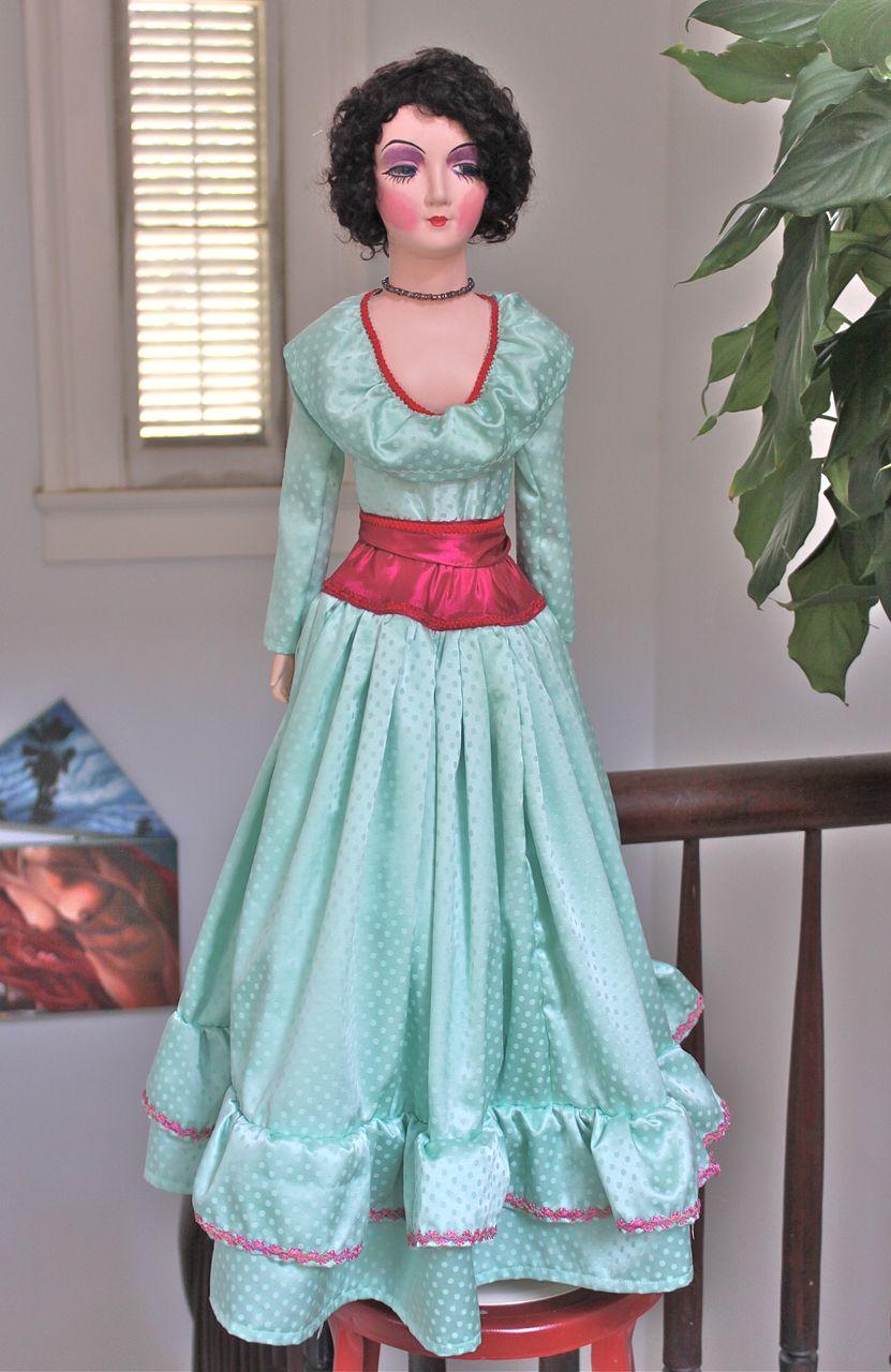 liz a restored 1930 39 s 34 keeneye style boudoir doll from decosurfn rl on ruby lane. Black Bedroom Furniture Sets. Home Design Ideas