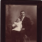 1880's Cabinet Card Wood, Photographer, San Pedro, Ca.