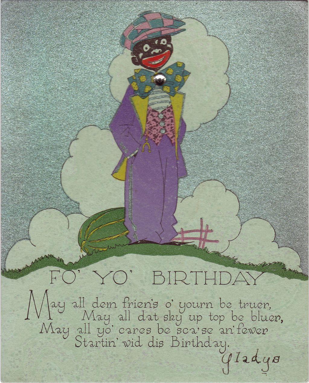 Art Deco Novelty Birthday Card Circa 1932 from decosurfnrl on – Novelty Birthday Cards