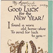 Art Deco Novelty New Year's Card Circa 1932