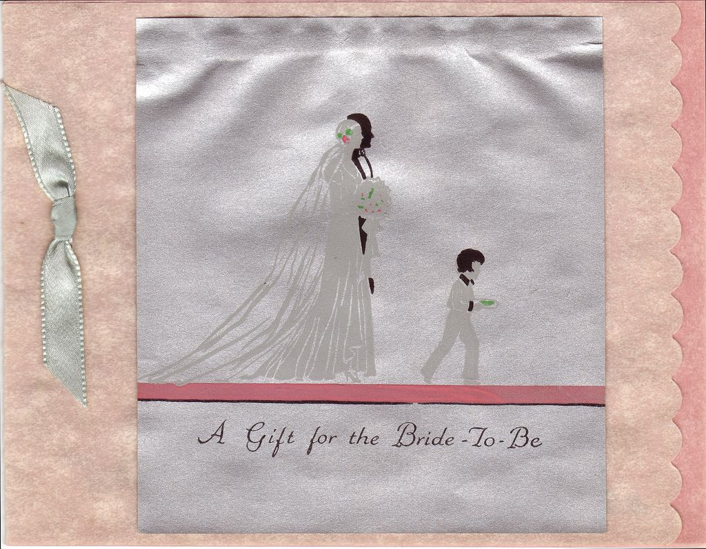 Art Deco Wedding Gift : Art Deco Wedding Gift Card Circa 1931 from decosurfn-rl on Ruby Lane